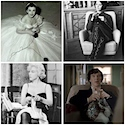 Celebrities knitting