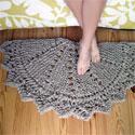 Rag doily rug